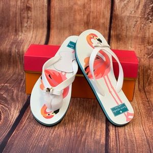 "Kate Spade ""Fifi"" Flamingo Printed Sandals"